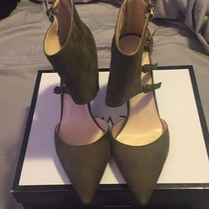 Ladies suede heels